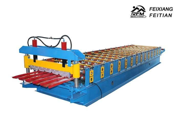 Cold Rolled Steel Color Steel Roll Forming Machine PLC Control For Roofing