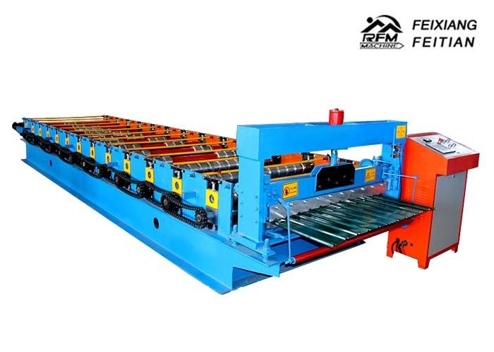 C10 Aluminum Roll Forming Machines , Galvanized Sheet Metal Roll Forming Machines