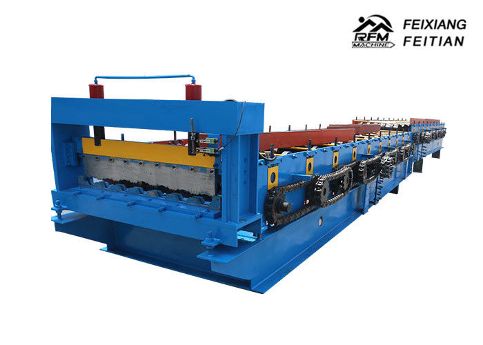 Chain Drive Highway Guardrail Making Machine For Building Fence / Road Barrier