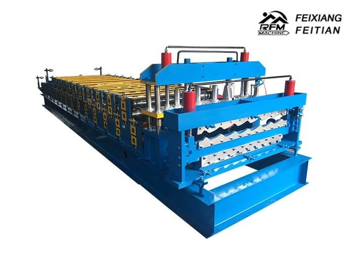 Color Steel Glazed Tile Double Layer Roll Forming Machine With PLC Control