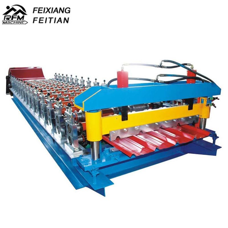 Metal Roof Trapezoidal Sheet IBR Roll Forming Machine with decoiler